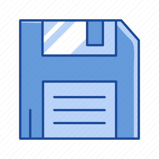 disk, diskette, file storage, floppy disk icon