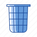 delete, remove, trash, trash can icon