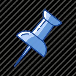 files, paper pin, pin, post it icon