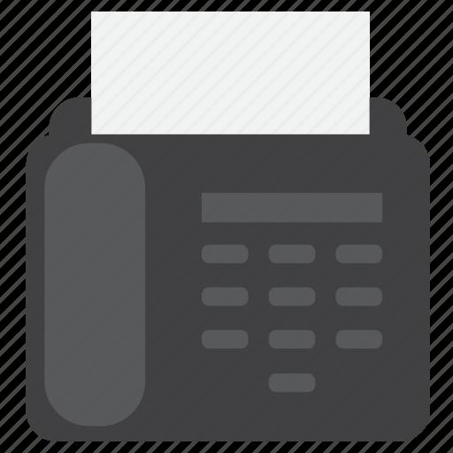 fax, machine, message icon