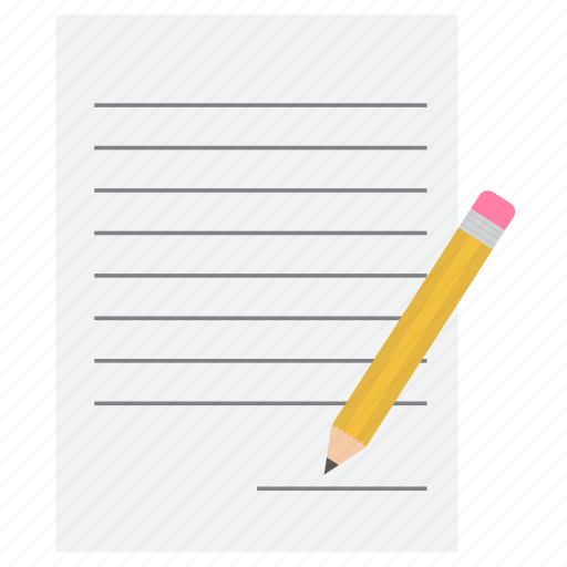 letter, note, pencil, sign icon