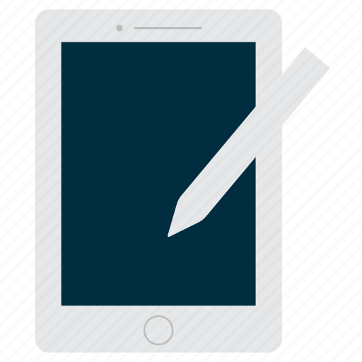ipad, mobile, stylus, tablet icon