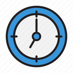 business, clock, document, office icon
