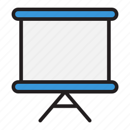 business, document, office, projector icon