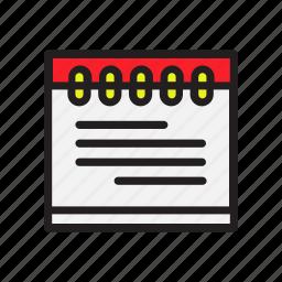 business, calendar, document, office icon