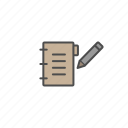 book, bussines, office, paper, pen, tools icon