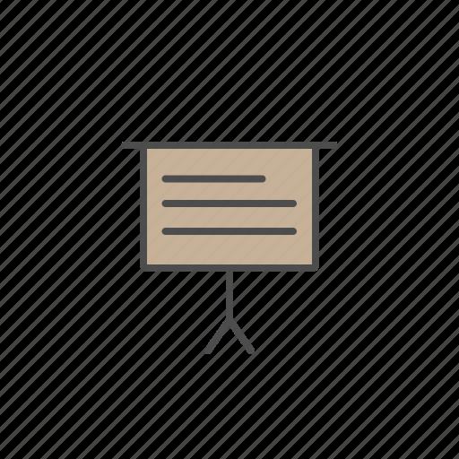board, office, presentation, reading, tools icon