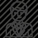 businessman, employer, manager, smart icon