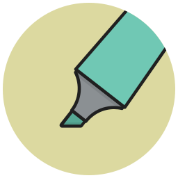bold, colour, highlight, highlighter, mark, marker, pointer icon