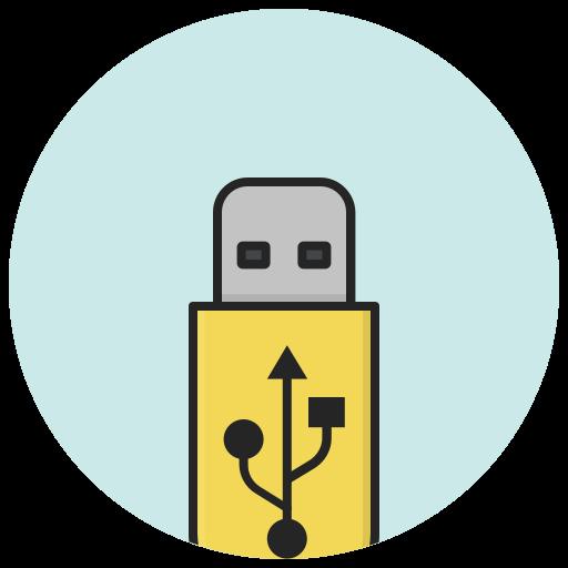 data, device, flash, memory, storage, usb, usb stick icon