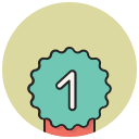 achievement, award, badge, best, favorite, ribbon, winner icon