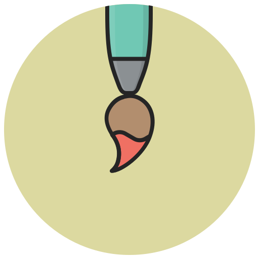 art, brush, design, drawing, paint, paintbrush, painting icon