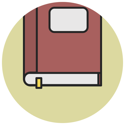 author, book, education, library, notebook, read, reading icon