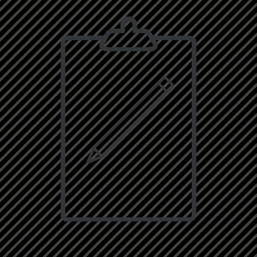 board, checklist, clip, clipboard, list, organize, task icon