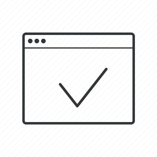 app, application, aprove, browser, check, content, file icon