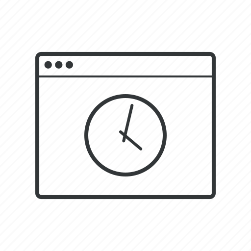 access, browser, clock, limited, time, timeout, working hours icon