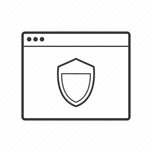 browser, firewall, protection, safety, secure, security, shield icon
