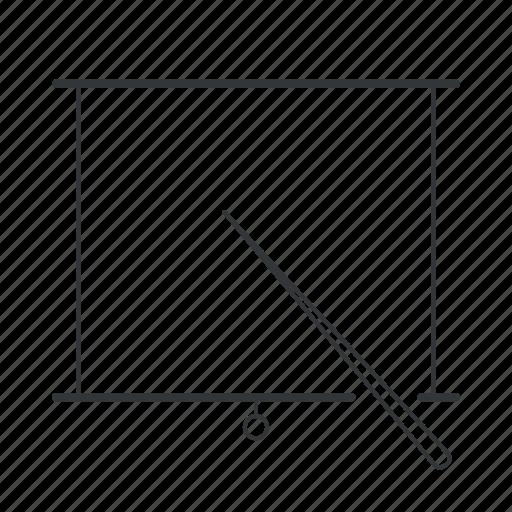 blackboard, board, markerboard, pointer, pointing, powerpoint, presentation icon