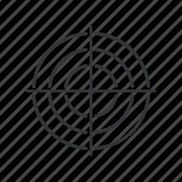 aim, bullseye, center, goal, shoot, shooting, target icon