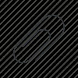 attach, attachment, clip, office, paper clip, paperclip, stationery icon