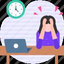 stress, work, office, laptop, hard work, people