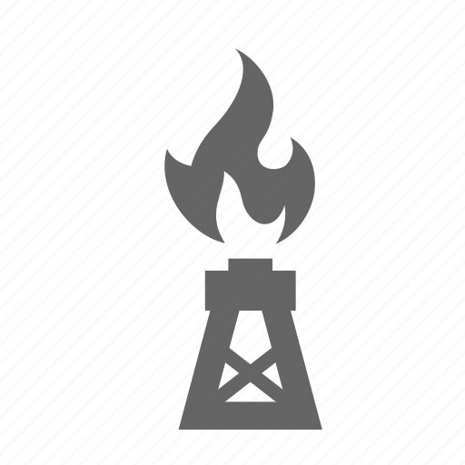 boring, drilling, flame, fuel, gas, oil, rig icon