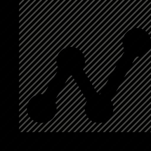 pointchart, progress, timeline icon