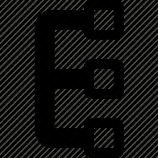 flowchart, network, workflow icon