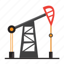 distillation, gas, gasoline, oil, well icon