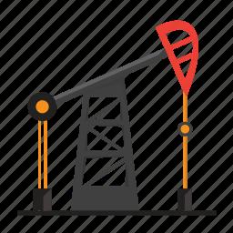 distillation, gas, gasoline, oil, well icon