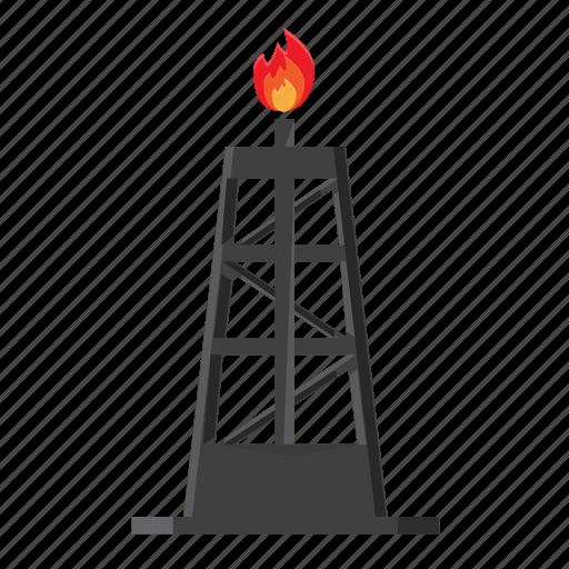 depot, distillation, distiller, flames, gas, gasoline, oil icon