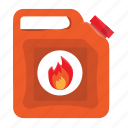 flamable, flame, gas, gasoline, oil, tube icon