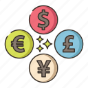 currency, dollar, foreign, money icon