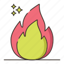 flame, fossil, fuels, light icon
