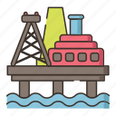 offshore, platform, software, technology icon