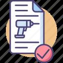 construction permit, drilling permit, permit icon