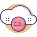 air pollution, carbon dioxide, co2, environmental, environmental pollution, pollution icon