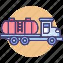 gasoline, gasoline truck, oil tank, oil tanker, oil truck, truck icon