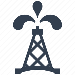 extraction, fossil, fuel, gas, industry, oil, petrol, pipe, pipeline, station icon