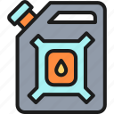 canister, gallon, gas, gasoline, jerrican, oil, petrol icon