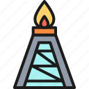 fuel, gas, oil, platform, pumping, rig, station icon