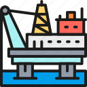business, industry, line, oil, power, pumping, sign icon