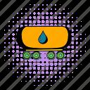 oil, tank, comics, gasoline, fuel, transportation, railway icon