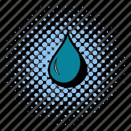 comics, drop, fuel, gas, liquid, oil, shiny icon