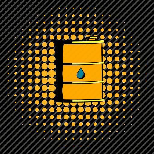 barrel, comics, drum, energy, fuel, gasoline, oil icon