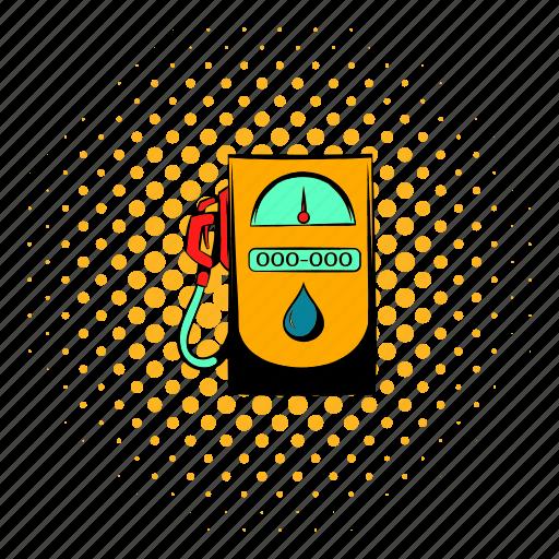 comics, diesel, fossil, gas, nozzle, power, transportation icon