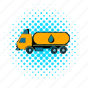 cargo, comics, tank, tanker, transport, transportation, truck icon