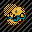 oil, liquid, spill, comics, energy, splash, fuel icon