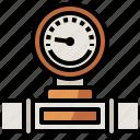 danger, gauge, indicator, manometer, temperature