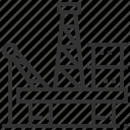 fuel, gasoline, oil, platform, pump icon